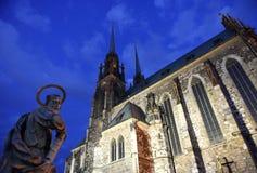 布尔诺大教堂捷克保罗・彼得共和国st 免版税图库摄影