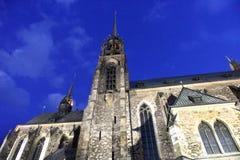 布尔诺大教堂捷克保罗・彼得共和国st 库存照片