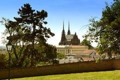 布尔诺大教堂捷克保罗・彼得共和国st 图库摄影