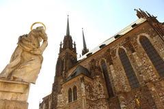 布尔诺大教堂捷克保罗・彼得共和国st 免版税库存照片