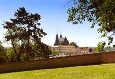 布尔诺大教堂捷克保罗・彼得共和国st 库存图片