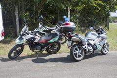 布尔诺市警察摩托车 免版税库存图片