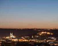 布尔诺的历史的中心Panoramatic视图在捷克 免版税库存照片