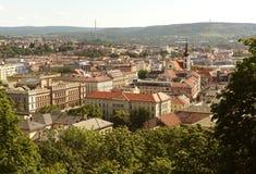 布尔诺都市风景,捷克 免版税库存照片