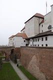 布尔诺,在Spilberk城堡的大门 库存图片