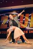 布尔诺,捷克- 2017年2月5日:由有天才的舞蹈家的巴西舞蹈展示 免版税库存图片
