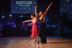 布尔诺,捷克- 2017年9月30日:由有天才的舞蹈家的巴西舞蹈展示 库存照片