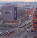 布尔诺,第二大城市都市风景在捷克 库存照片