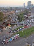 布尔诺,第二大城市都市风景在捷克 免版税图库摄影