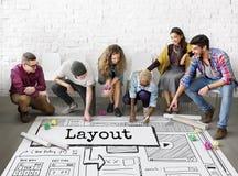 布局模板网站设计网概念 库存图片