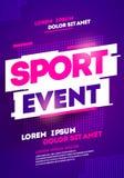 布局海报体育比赛、比赛或者冠军的模板设计 向量例证