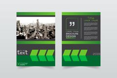 布局,小册子,模板, flayer,杂志, a的盖子设计 库存例证