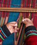 织布工和织布机 图库摄影