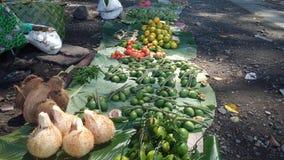 布干维尔岛市场食物 免版税库存图片