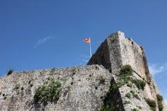 布德瓦市墙壁,黑山 库存图片