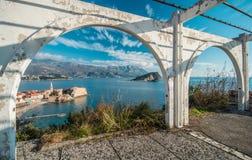 布德瓦老镇在黑山 免版税库存图片