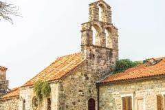 布德瓦,黑山老镇的大厦的片段  这个城市的第一提及是超过2600年前 免版税库存图片