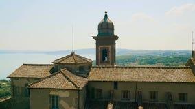 布拉恰诺,意大利帝堡城奥尔西尼Odescalchi,外部,湖 4K 股票录像