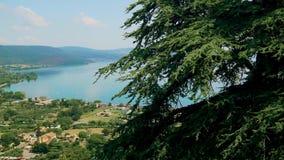 布拉恰诺,意大利帝堡城奥尔西尼Odescalchi,外部,湖 4K 影视素材