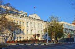 布拉戈维申斯克,俄罗斯, 2017年10月, 21日 阿穆尔河地区调解法庭  免版税库存图片
