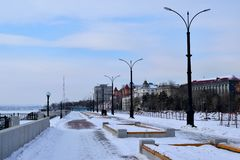 布拉戈维申斯克市 库存图片