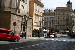 布拉格中心交通 免版税库存照片