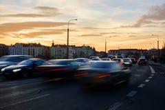 布拉格交通 免版税库存图片