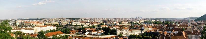 布拉格全景从圣Vitus大教堂的 库存照片