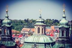 布拉格全景-捷克看法  免版税库存图片