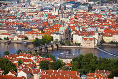 布拉格全景 库存照片