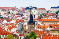 布拉格全景 cesky捷克krumlov中世纪老共和国城镇视图 免版税图库摄影