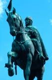 布拉格国王雕象wenceslas 库存图片