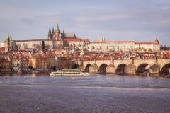 布拉格在12月 免版税库存图片