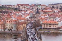 布拉格在12月 免版税库存照片