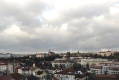 布拉格地平线HDR的 免版税库存照片
