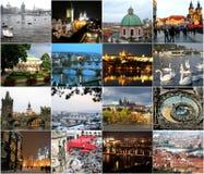 布拉格地标用不同的季节 库存图片