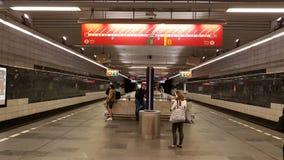 布拉格地铁 库存照片