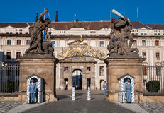 布拉格城堡入口,马赛厄斯门 免版税库存照片