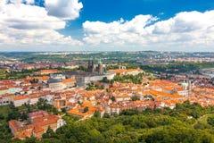 布拉格城堡全景视图  免版税库存照片