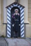 布拉格城堡卫兵 免版税图库摄影