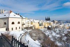 布拉格城堡和一点镇,布拉格(联合国科教文组织),捷克共和国 免版税图库摄影