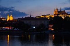 布拉格城堡和圣尼古拉斯教会,捷克 库存图片