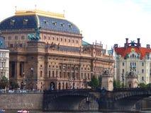 布拉格城堡和圣徒Vitus大教堂,布拉格,捷克看法  图库摄影