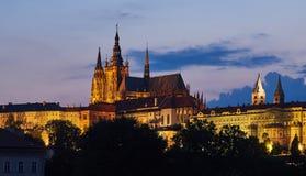 布拉格城堡和圣Vitus,捷克 库存图片
