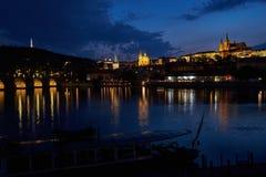布拉格城堡和查尔斯桥梁,捷克 库存图片