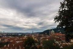 从布拉格城堡布拉格的布拉格都市风景 库存照片