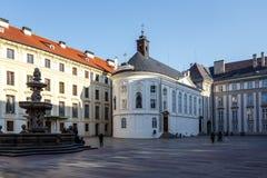 布拉格城堡庭院  库存照片