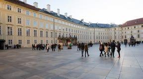 布拉格城堡庭院 免版税库存图片