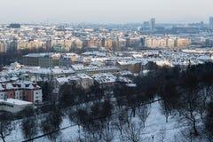 从布拉格城堡的看法在布拉格市 库存照片