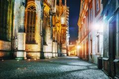 布拉格城堡的St Vitus大教堂在美丽 图库摄影